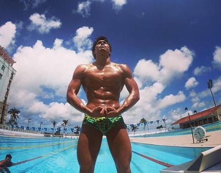 中村克のインスタがイケメンで筋肉が凄い!水泳は東京