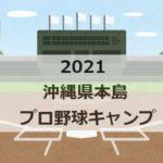 【2021】プロ野球春季沖縄キャンプ、選手の宿泊ホテルは?練習の球場はどこ?