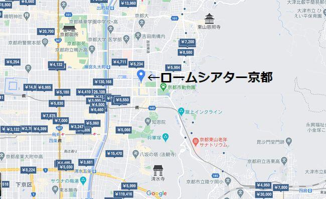 ロームシアター京都付近の地図